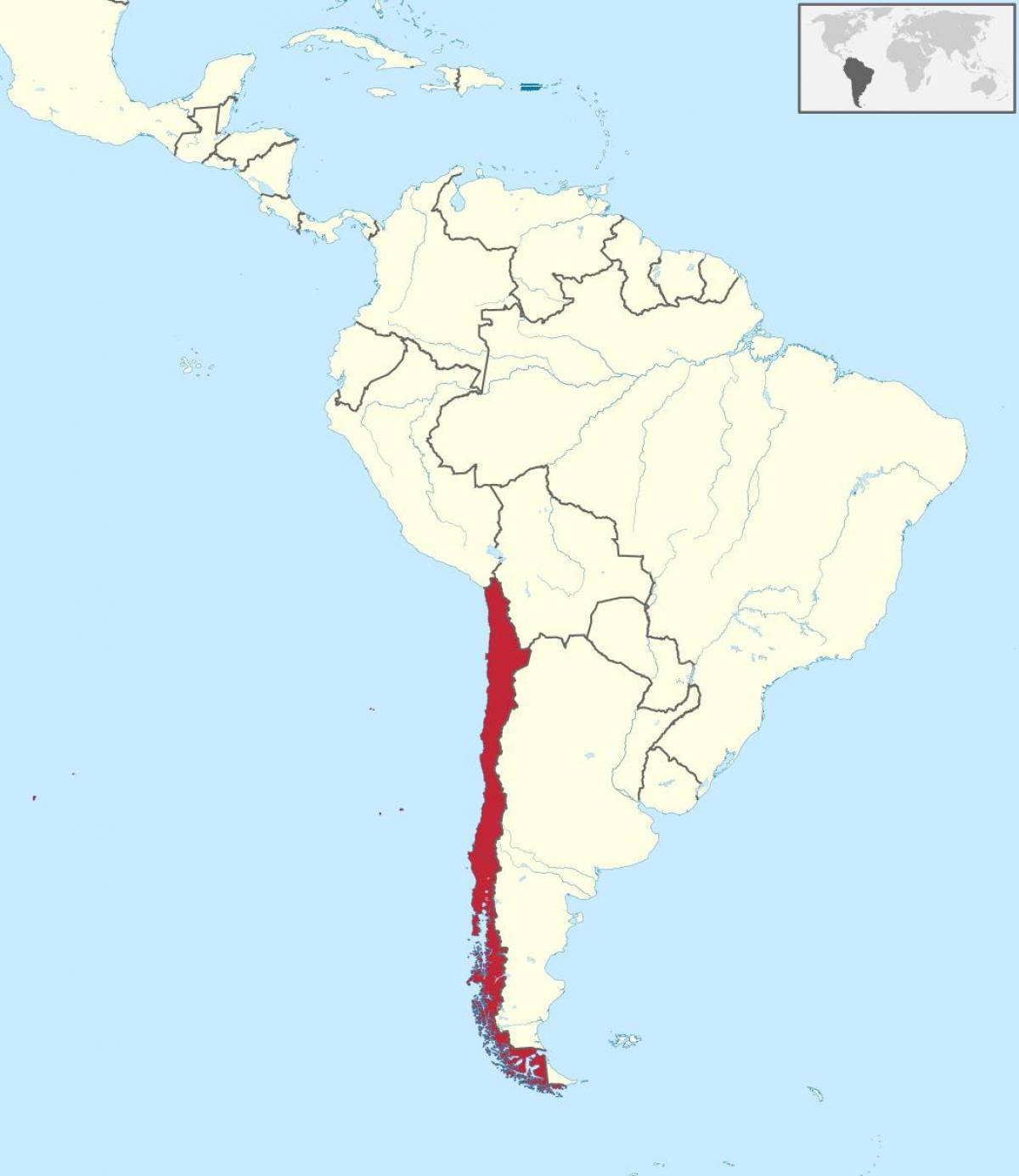 Chile On Etela Amerikan Kartta Chile On Etela Amerikan Kartta